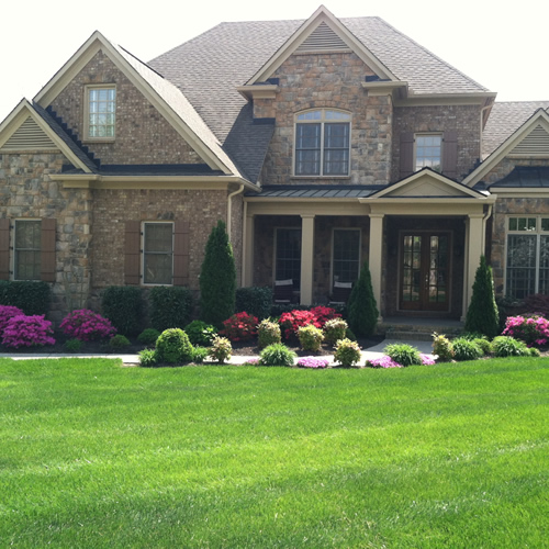 Landscape designs local franklin landscaper stone water for Local landscaping companies